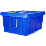 "Myton Bulk Shipping Poly Container MTL-2 With Lid 31""L x 22""W x 15""H, Blue"