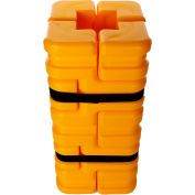 """Column Sentry® FIT Column Protector, 8"""" - 12"""" Square Openings, 20""""O.D. x 42""""H, Ylw, CS-FIT-M-Y"""