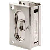 Prime-Line N 7367 Pocket Door Privacy Lock with Pull, 3-3/4-Inch, Satin Nickel