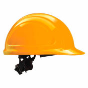 Honeywell North® Hard Hat, Front Brim, Type 1, Class E, Ratchet, Orange