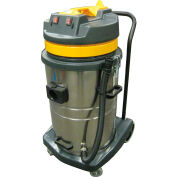 Perfect Products 18 Gallon Two-2 Stage Motor Wet/Dry Vac w/ 5-Pc Tool Kit, Stainless/Yellow - BF580