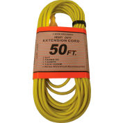 Perfect Products 50' 16/3 300 Volt Insulated Extension Cord W/ Lighted Ends Orange - CD7212