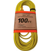 Perfect Products 100' 16/3 300 Volt Insulated Extension Cord W/ Lighted Ends Yellow - CD7214Y