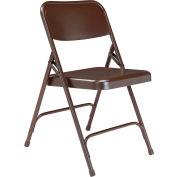 Premium All-Steel Folding Chair - Brown - Pkg Qty 4