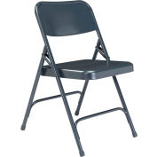 National Public Seating Steel Folding Chair - Premium with Double Brace - Blue - Pkg Qty 4