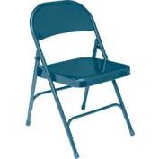 Standard All-Steel Folding Chair - Blue - Pkg Qty 4