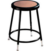 "NPS Heavy Duty Stool - Round - Hardboard - 18""H - Black"