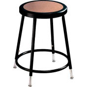 "Interion® Steel Shop Stool with Hardboard Seat - Adjustable Height 19""-27"" - Black - Pack of 2"
