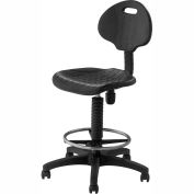 NPS Ergonomic Industrial Stool - Polyurethane - Black