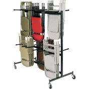 Chair Cart with Double Tier for Folding Chairs Holds 84 Chairs