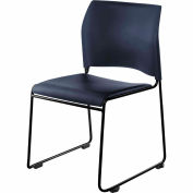 Stacking Chair - Vinyl - Blue Seat with Black Frame - 8700 Series - Pkg Qty 4