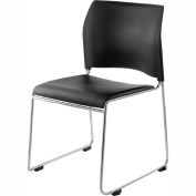 8700 Series Cafetorium Stacking Chair with Ergonomic Back - Chrome Frame - Pkg Qty 4