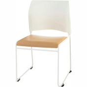 8700 Series Cafetorium Stacking Chair with Ergonomic Back - White Frame - Pkg Qty 4