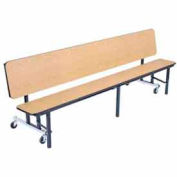 NPS® 7' Mobile Convertible Bench Unit - Particleboard Top - Light Oak