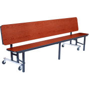 NPS® 6' Mobile Convertible Bench Unit - MDF Top - Cherry
