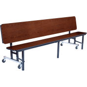 NPS® 6' Mobile Convertible Bench Unit - MDF Top - Walnut