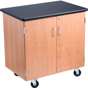 NPS Mobile Science Lab Storage Cabinet - Ash Wood with Black Laminate Top
