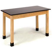 "NPS Science Lab Table - Phenolic Top - 24""W x 72""L x 30""H - Black"