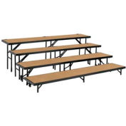 "4 Level Tapered Riser with Hardboard - 60""L x 18""W - 8""H, 16""H, 24""H & 32""H"