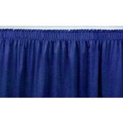 "4'L Shirred-Pleat Skirting for 8""H Stage - Blue"