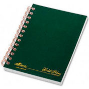 Gold Fibre® Personal Notebook, College Rule, 5x7, Classic Green, 100 Sheets