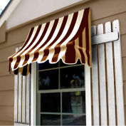 Awntech NT33-6BRNT Window/Entry Awning 6-3/8'W x 3-11/16'H x 3'D Brown/Tan