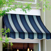 Awntech NT33-8NGW, Window/Entry Awning 8-3/8'W x 3-11/16'H x 3'D Navy/Gray/White