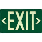 NMC 7040B Glo-Brite Eco Exit, Green Single Face With Bracket