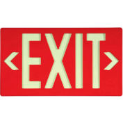 NMC 7050B Glo-Brite Exit Sign, Red Single Face With Bracket