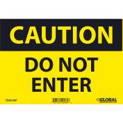 Global Industrial™ Caution Do Not Enter, 7x10, Pressure Sensitive Vinyl