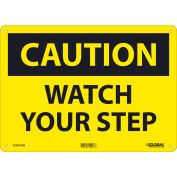 Global Industrial™ Caution Watch Your Step, 10x14, Rigid Plastic