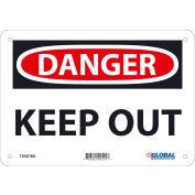 Global Industrial™ Danger Keep Out, 7x10, Aluminum