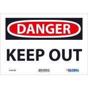 Global Industrial™ Danger Keep Out, 7x10, Pressure Sensitive Vinyl