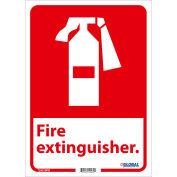 Global Industrial™ Fire Extinguisher Sign, 14x10, Pressure Sensitive Vinyl
