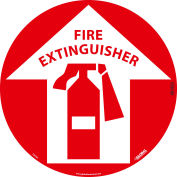 Global Industrial™ Floor Sign, Walk On, Fire Extinguisher, 17in Dia