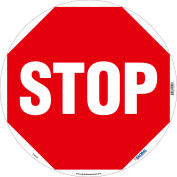 Global Industrial™ Floor Sign, Walk On, Stop, 17in Dia