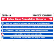 NMC, Covid-19 Protect Yourself Banner, 6' x 12'