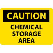 "NMC C126R OSHA Sign, Caution Chemical Storage Area, 7"" X 10"", Yellow/Black"