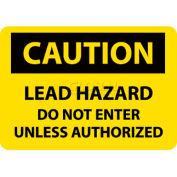 "NMC C173RB OSHA Sign, Caution Lead Hazard Do Not Enter Unless Authorized, 10"" X 14"", Yellow/Black"