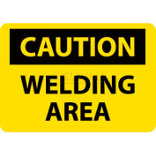 "NMC C362RB OSHA Sign, Caution Welding Area, 10"" X 14"", Yellow/Black"