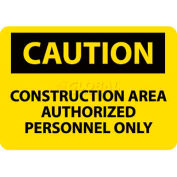 "NMC C445RB OSHA Sign, Caution Construction Area Authorized Personnel Only, 10"" X 14"", Yellow/Black"