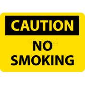 "NMC C49RB OSHA Sign, Caution No Smoking, 10"" X 14"", Yellow/Black"