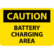 "NMC C97RB OSHA Sign, Caution Battery Charging Area, 10"" X 14"", Yellow/Black"