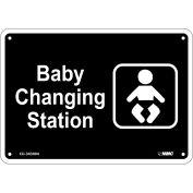 "Baby Changing Station Sign - Rigid Plastic 7""H x 10""W, CU-343004"