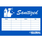 """Global Industrial™ Sanitized Checklist Sign, 7"""" x 10"""""""
