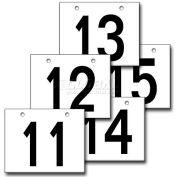 "Hanging Aisle Sign, Horizontal, 2-Side, 11-15 Range, BLK/WHT, 18""L X 12""H"