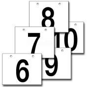 "Hanging Aisle Sign, Horizontal, 2-Side, 6-10 Range, BLK/WHT, 36""L X 24""H"