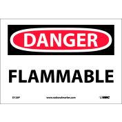"""NMC D126P OSHA Sign, Danger Flammable, 7"""" X 10"""", White/Red/Black"""