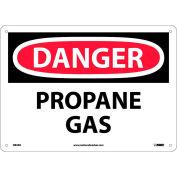 """NMC D84AB OSHA Sign, Danger Propane Gas, 10"""" X 14"""", White/Red/Black"""
