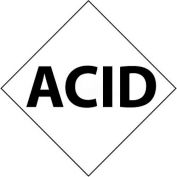 "NMC DCL124 NFPA Label Symbol, Acid, 5"" X 5"", White/Black, 5/Pk"